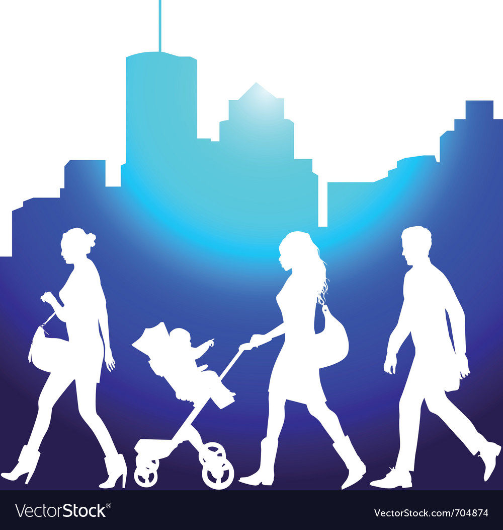 Pedestrians vector | Price: 1 Credit (USD $1)