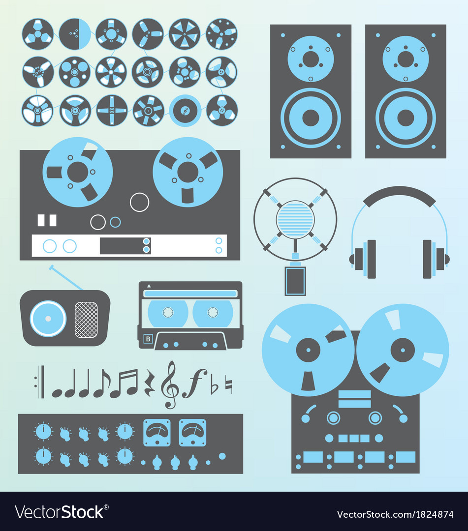 Retro recording vector | Price: 1 Credit (USD $1)