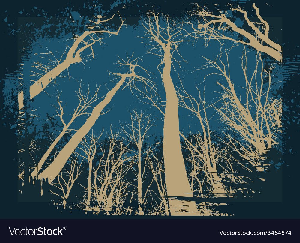 Spooky grunge forest for halloween vector | Price: 1 Credit (USD $1)