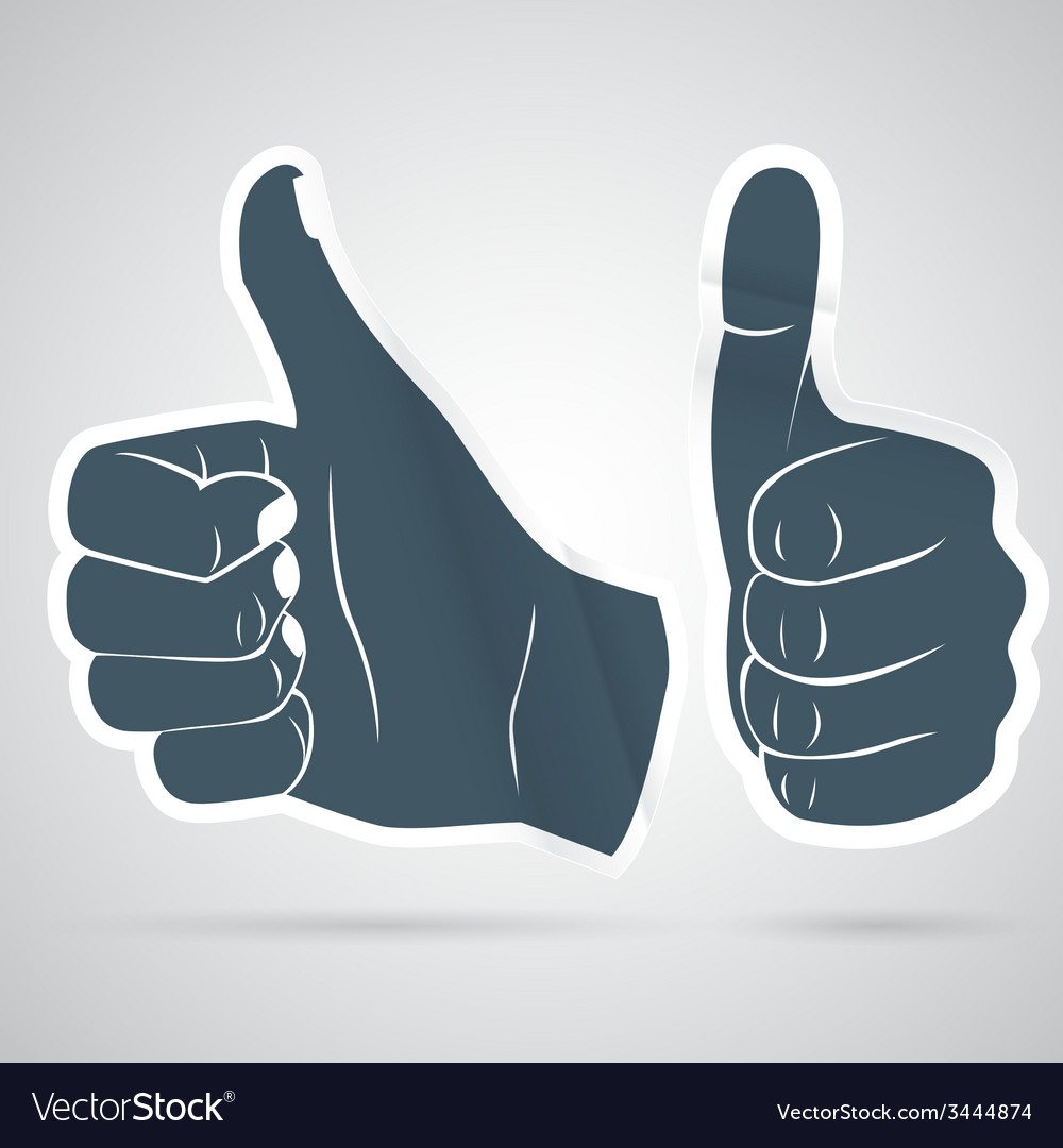 Thumbs up sticker vector | Price: 1 Credit (USD $1)