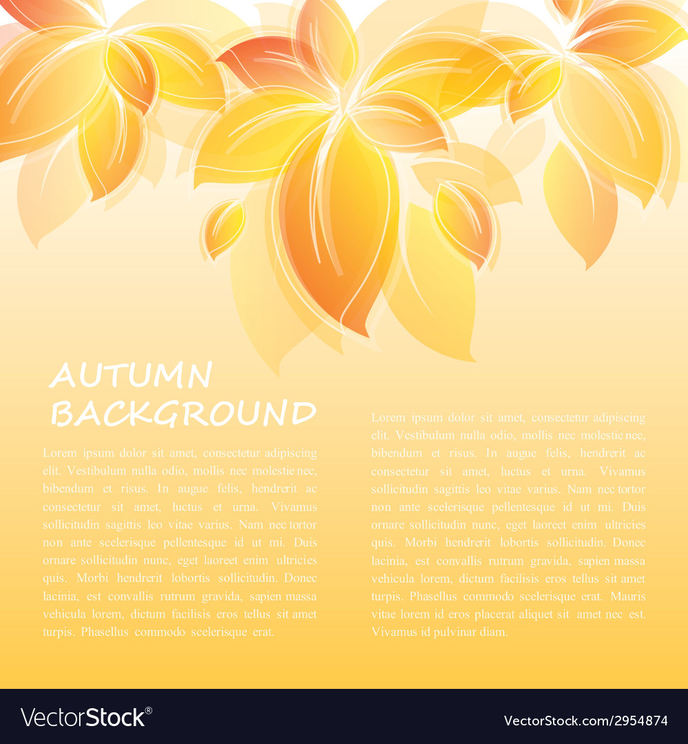 Vintage autumn background vector | Price: 1 Credit (USD $1)