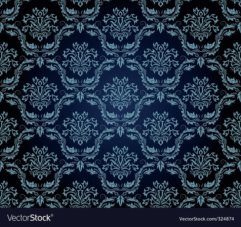 Vintage damask pattern vector   Price: 1 Credit (USD $1)