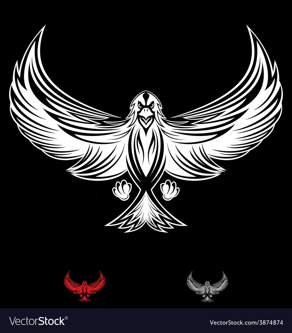 White eagle bird vector | Price: 1 Credit (USD $1)