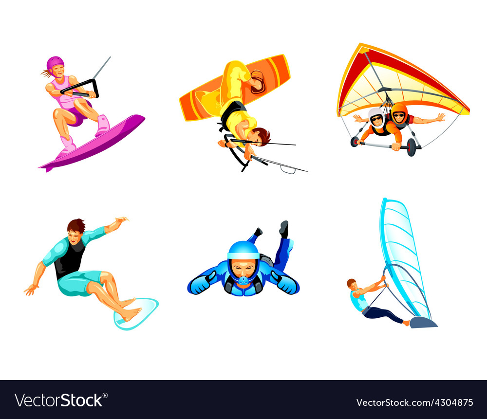 Air and water sport vector | Price: 1 Credit (USD $1)