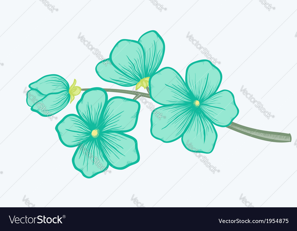 Beautiful blooming branch a symbol of spring vector | Price: 1 Credit (USD $1)