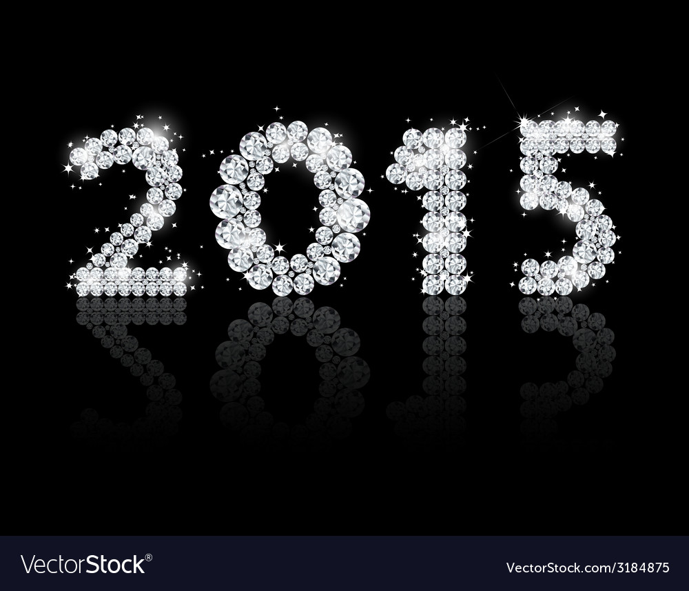 Brilliant text for the new year 2015 background vector | Price: 1 Credit (USD $1)