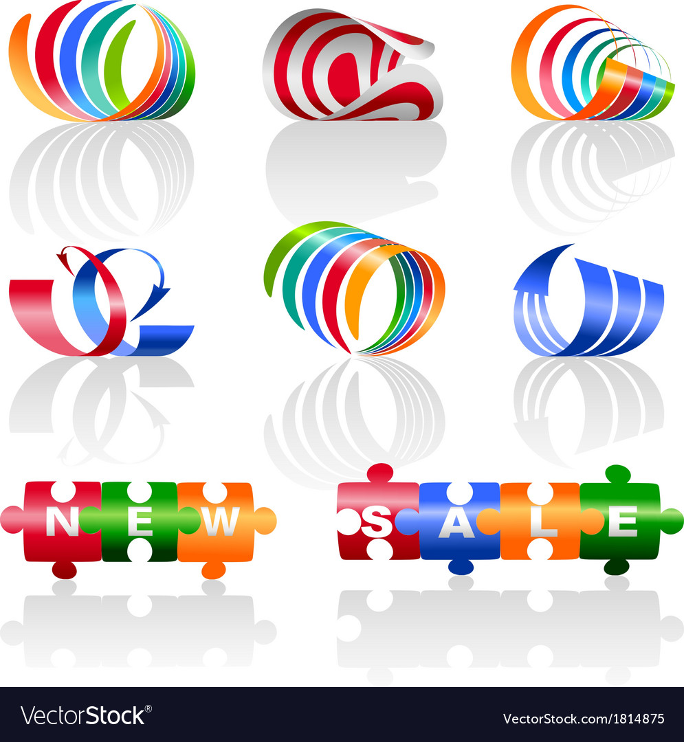 Decorative colorful elements for the logo vector | Price: 1 Credit (USD $1)