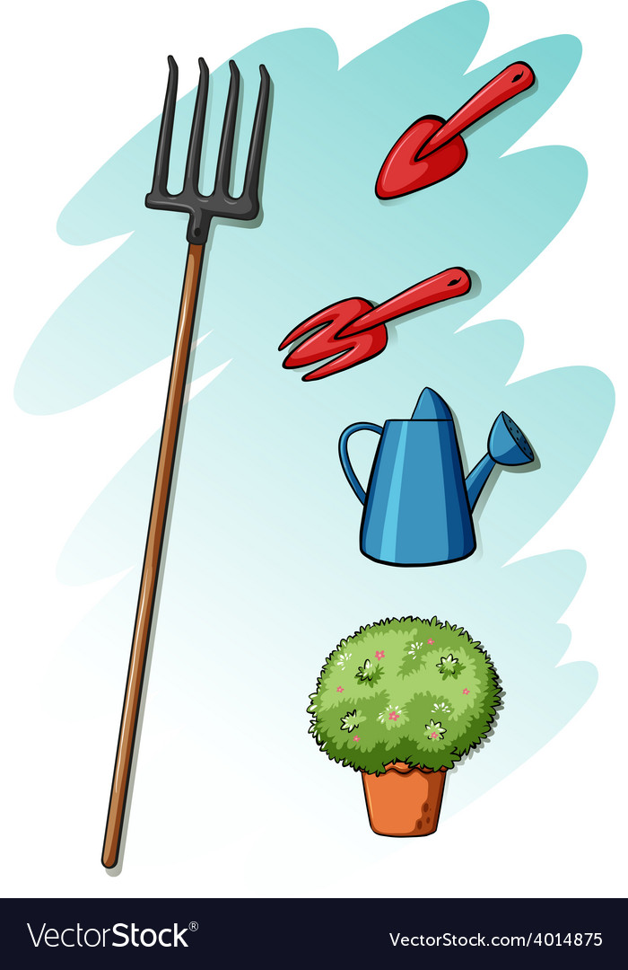Gardening tools vector | Price: 3 Credit (USD $3)
