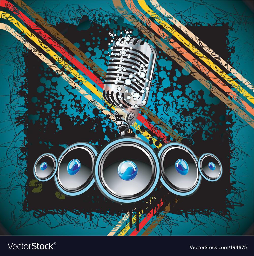 Grunge retro music background vector | Price: 3 Credit (USD $3)