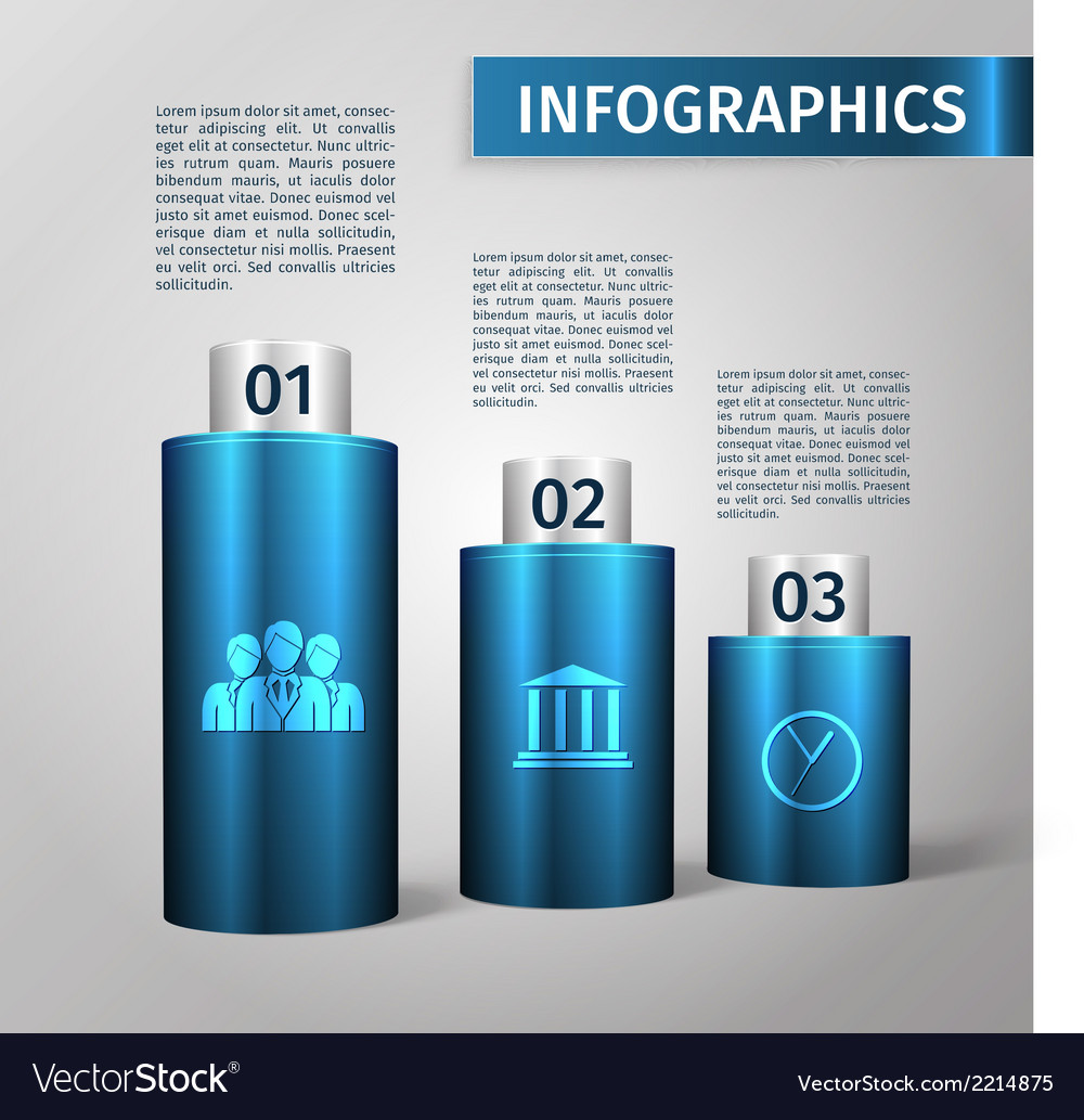 Infographic 3d template vector | Price: 1 Credit (USD $1)