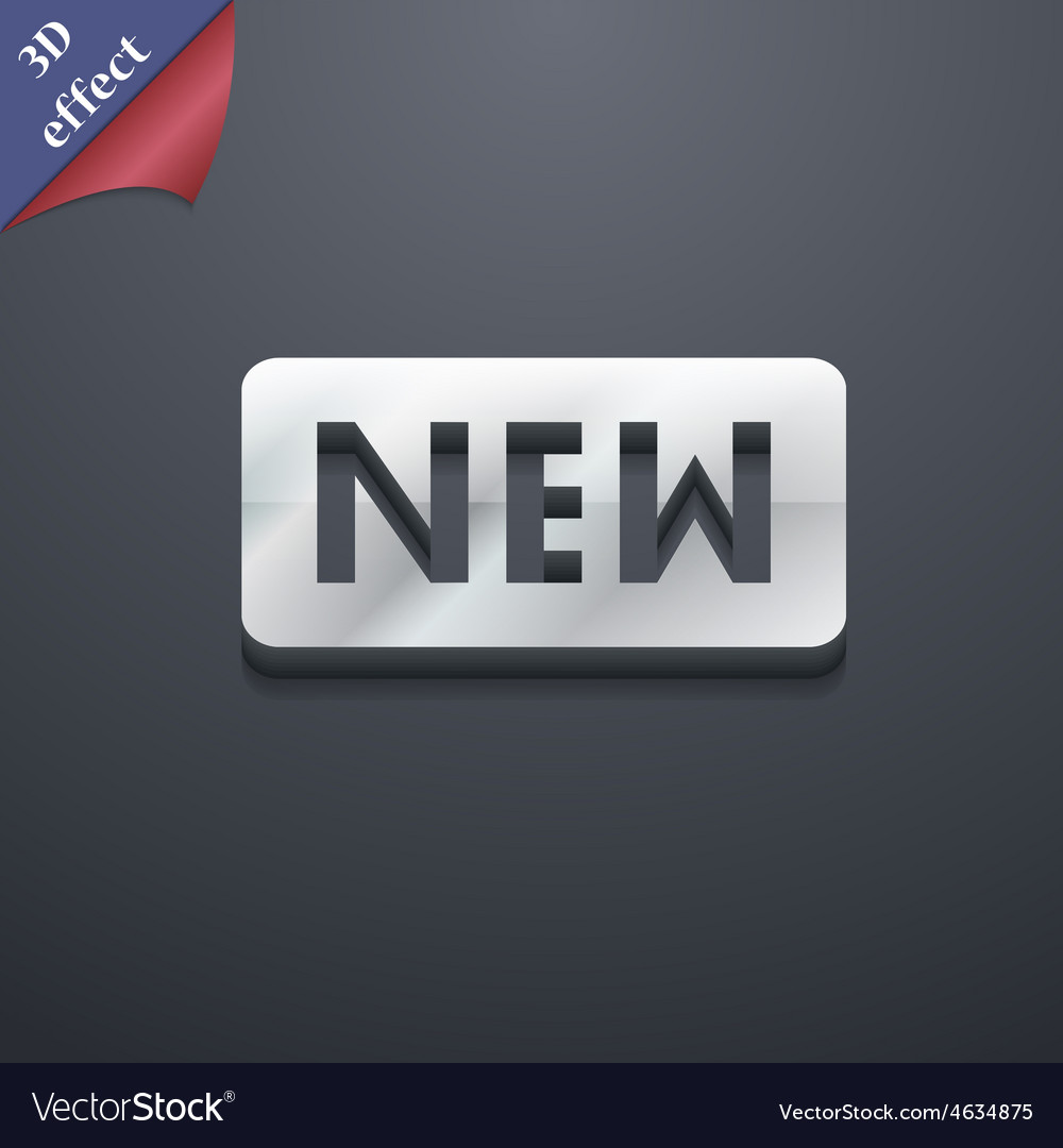 New icon symbol 3d style trendy modern design with vector | Price: 1 Credit (USD $1)
