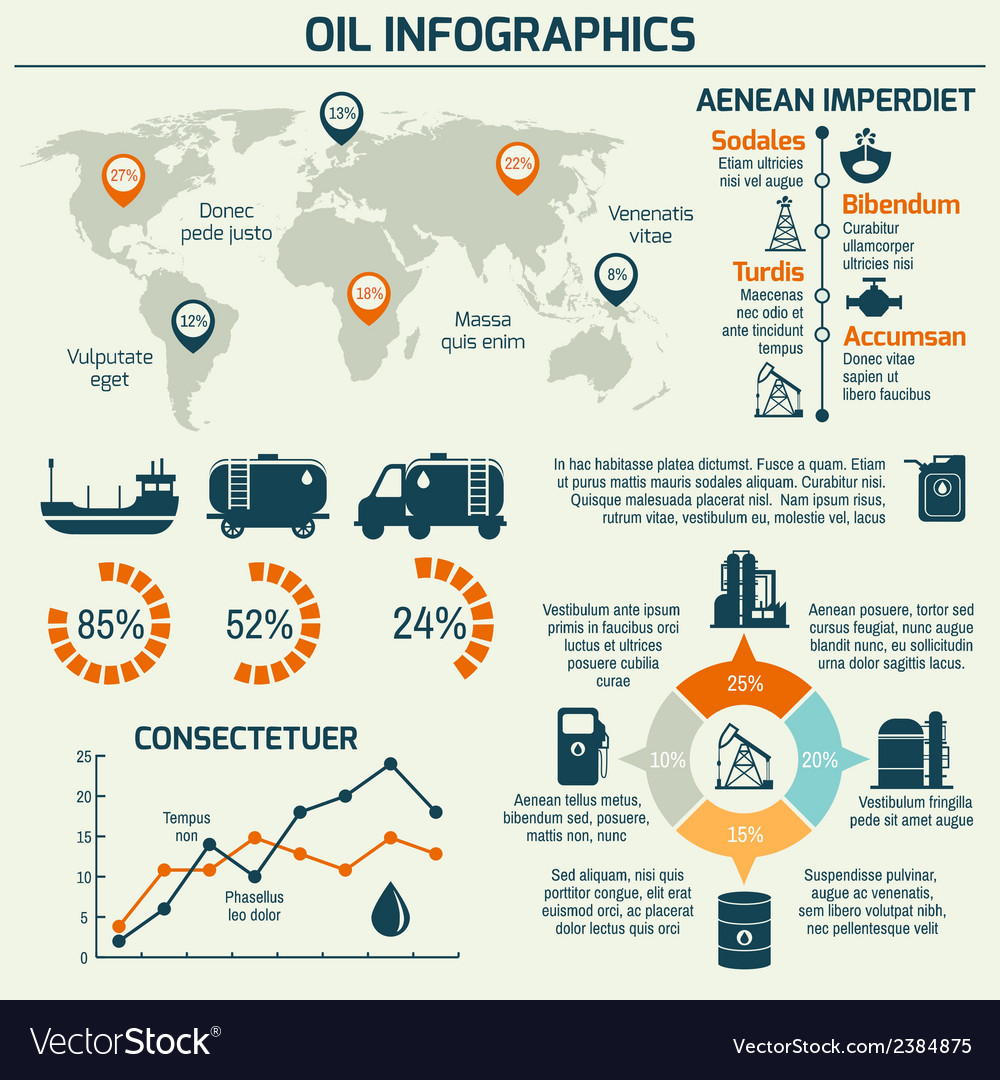 Oil industry infographic vector | Price: 1 Credit (USD $1)