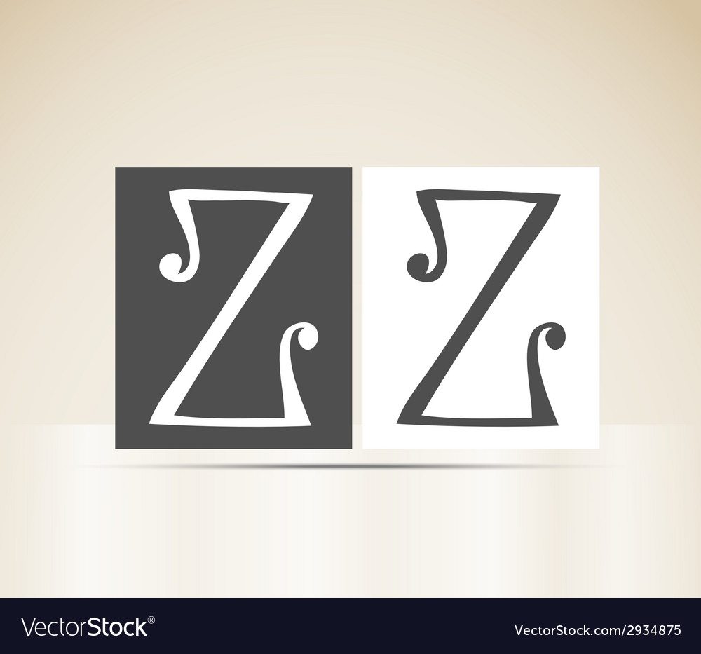 Retro alphabet letter z art deco vintage design vector | Price: 1 Credit (USD $1)