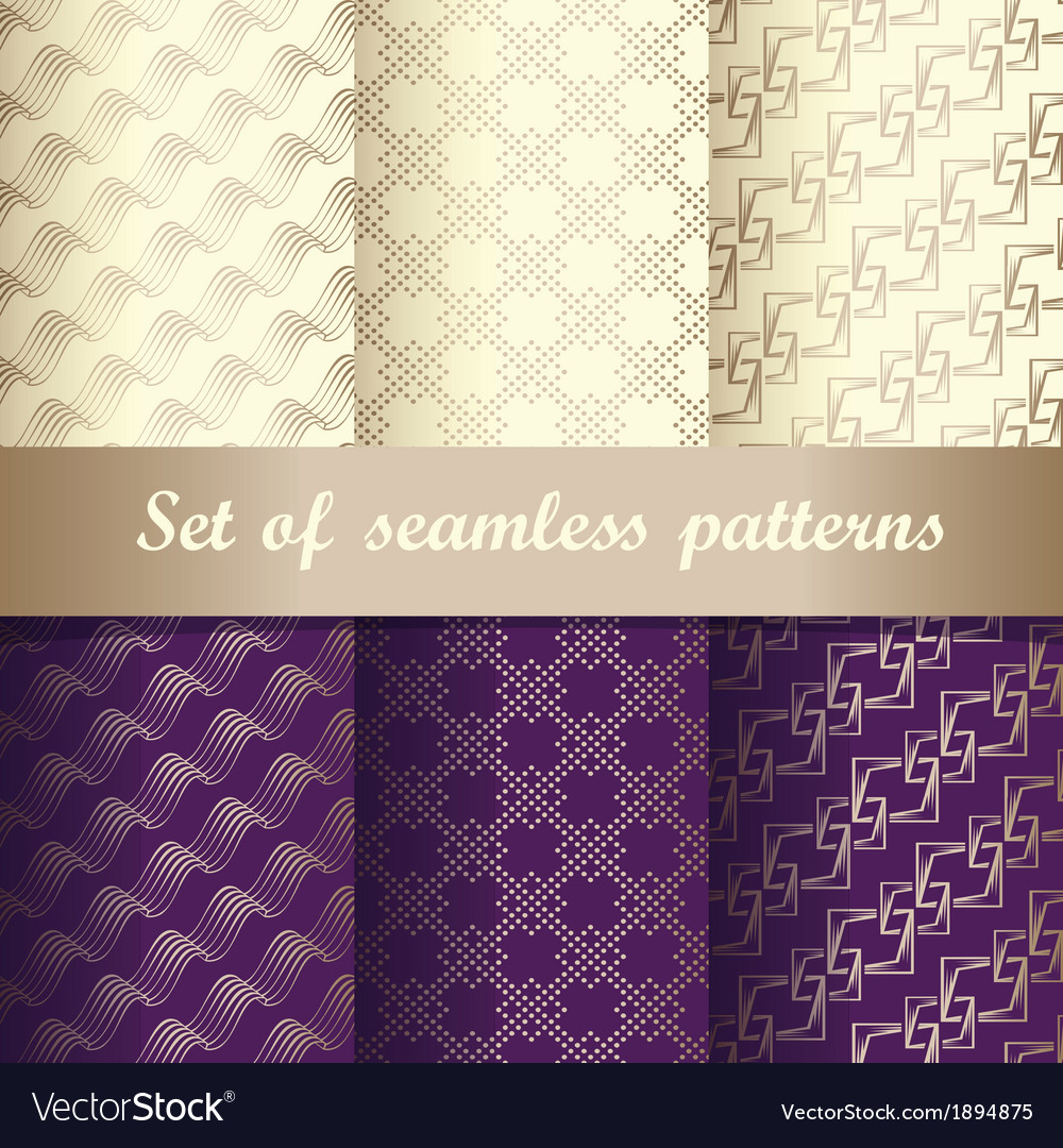 Set of seamless patterns 2 vector | Price: 1 Credit (USD $1)