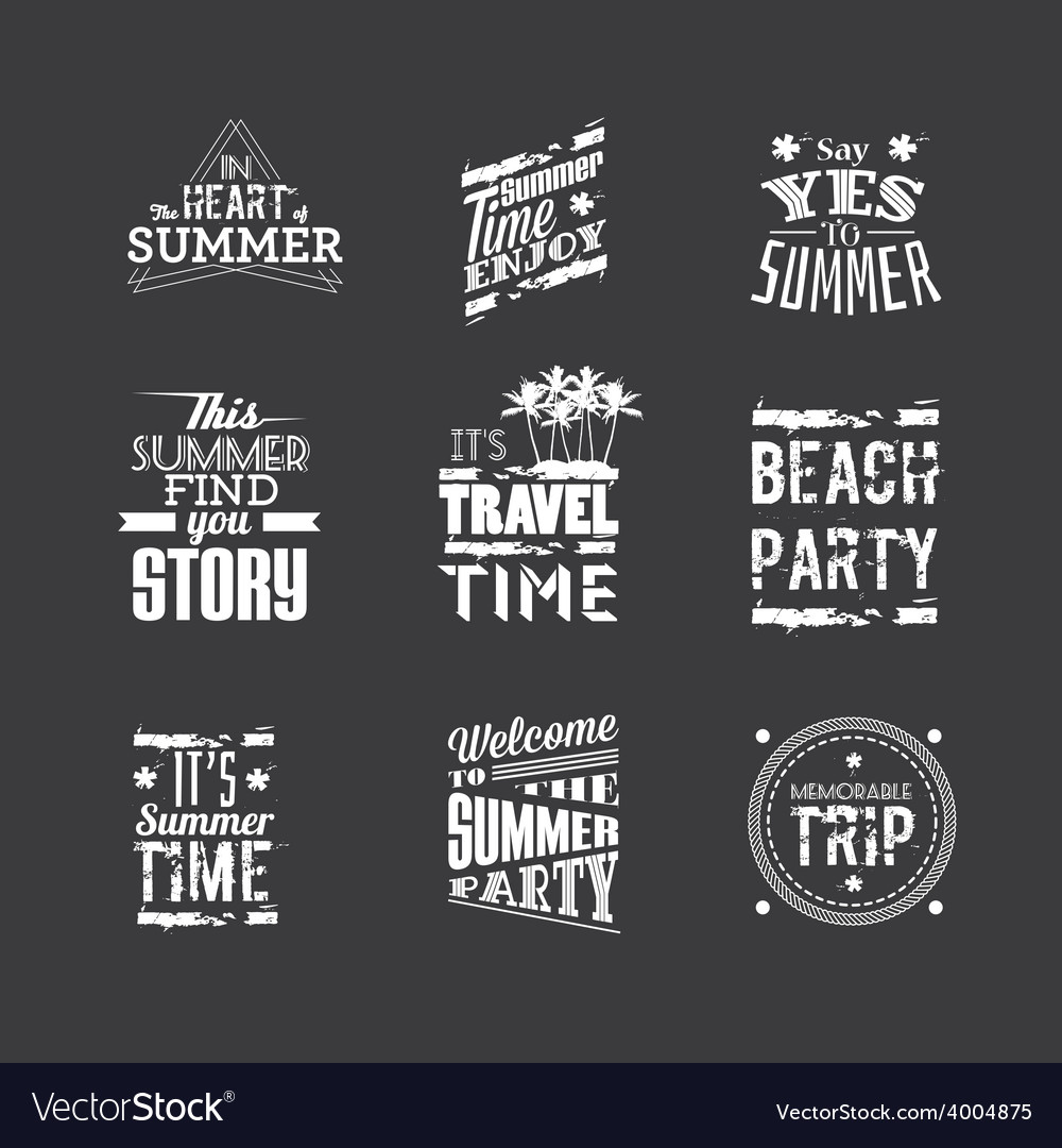 Set of summer holidays vector | Price: 1 Credit (USD $1)