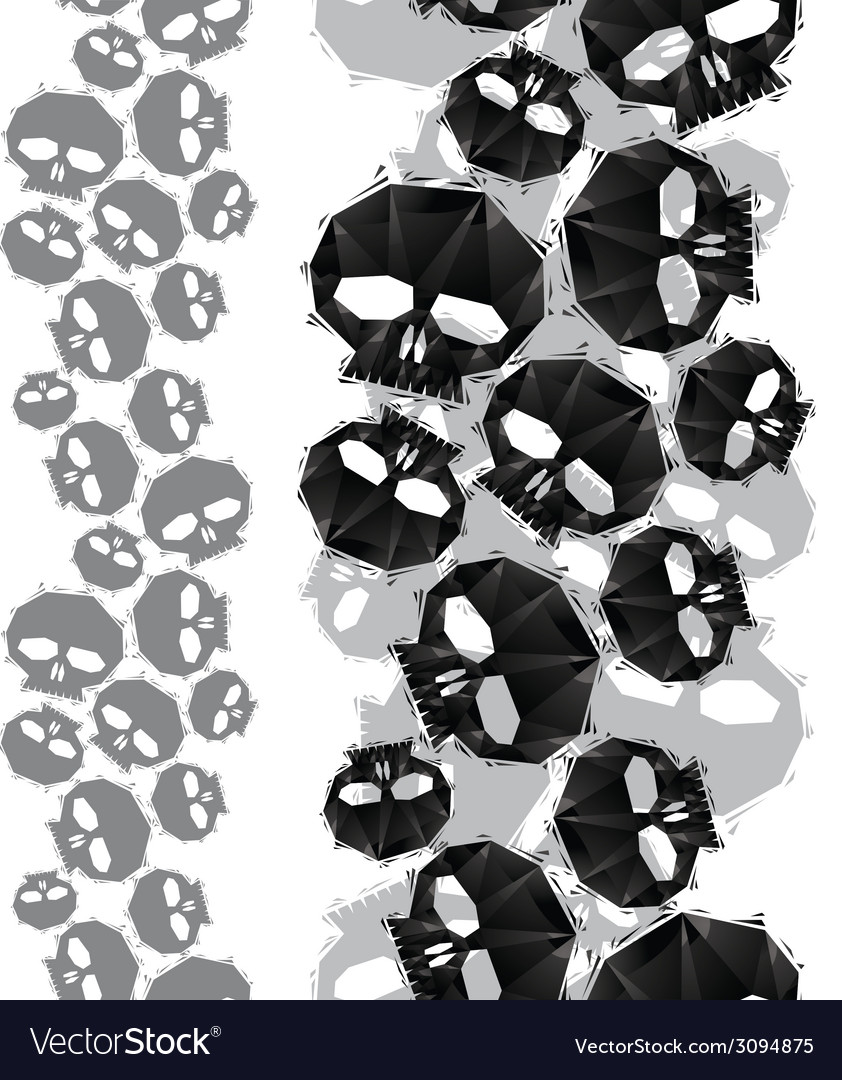 Skulls seamless pattern vertical composition vector | Price: 1 Credit (USD $1)
