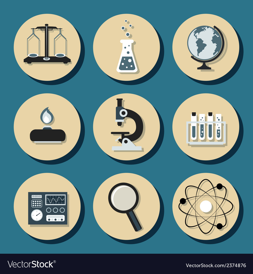 Chemistry flat icons vector   Price: 1 Credit (USD $1)