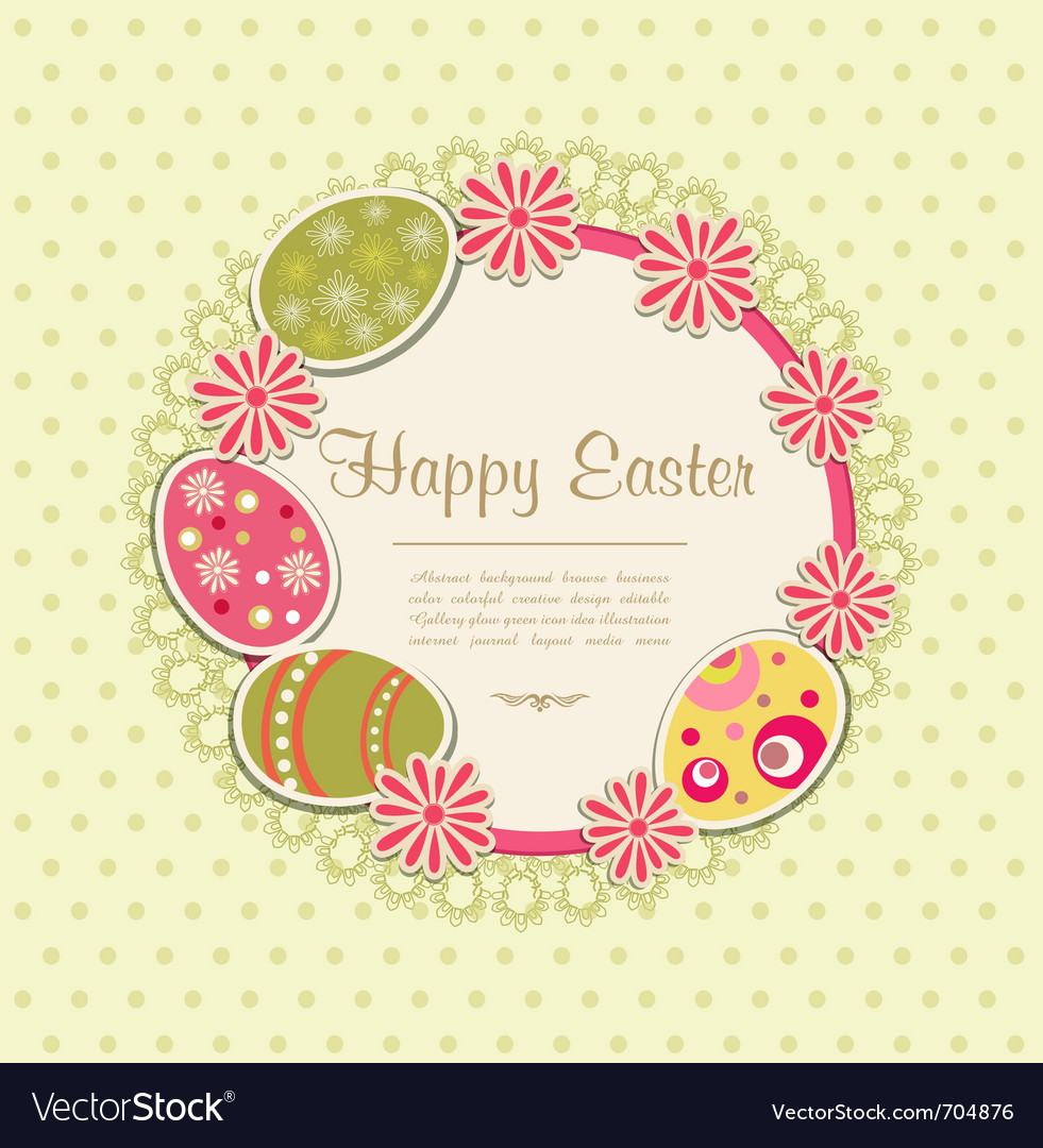 Easter holiday frame vector | Price: 1 Credit (USD $1)