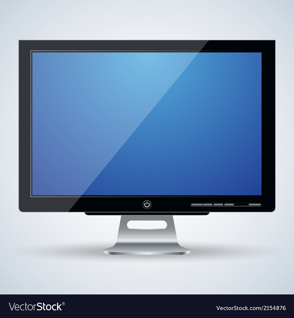 Flat monitor vector | Price: 1 Credit (USD $1)