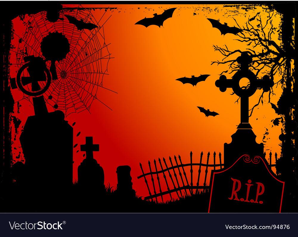 Halloween cemetery vector | Price: 1 Credit (USD $1)
