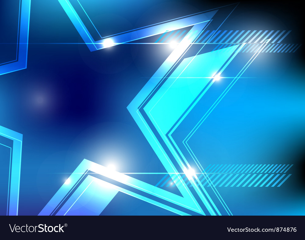 Shiny star background design vector | Price: 1 Credit (USD $1)