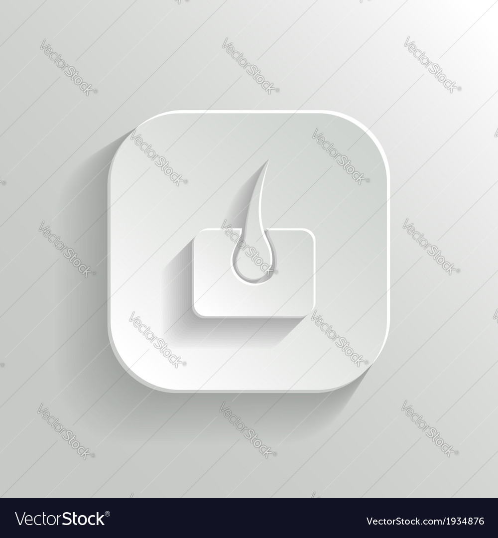 Skin icon - white app button vector | Price: 1 Credit (USD $1)