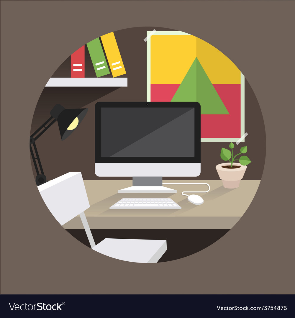 Table office vector | Price: 1 Credit (USD $1)