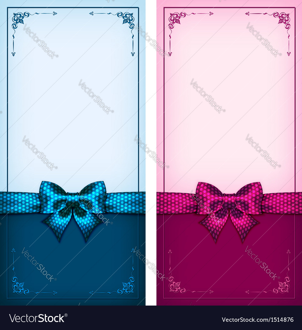 Vintage cards blue and pink vector | Price: 1 Credit (USD $1)