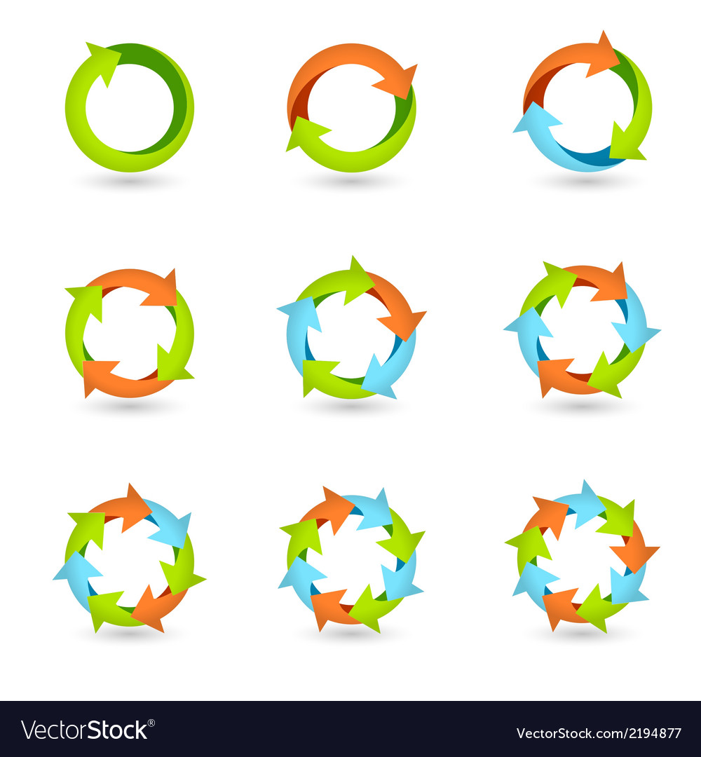 Circle arrow icons vector | Price: 1 Credit (USD $1)