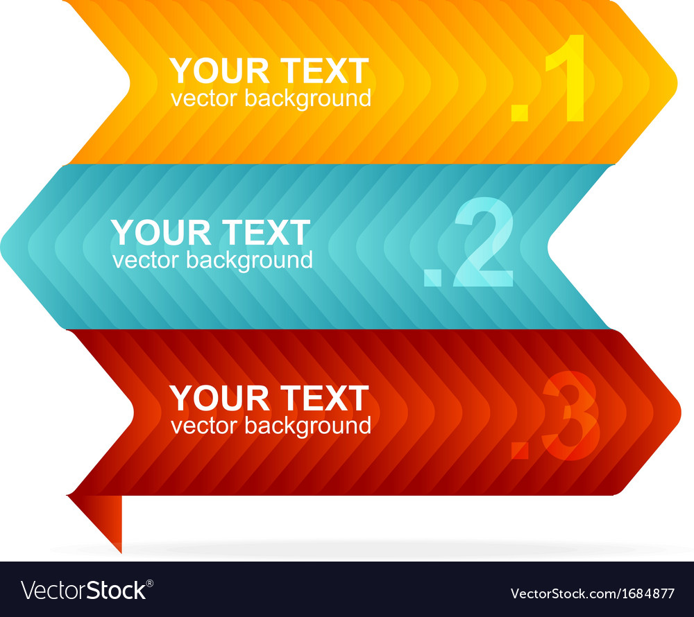 Colorful text box 123 concept vector | Price: 1 Credit (USD $1)