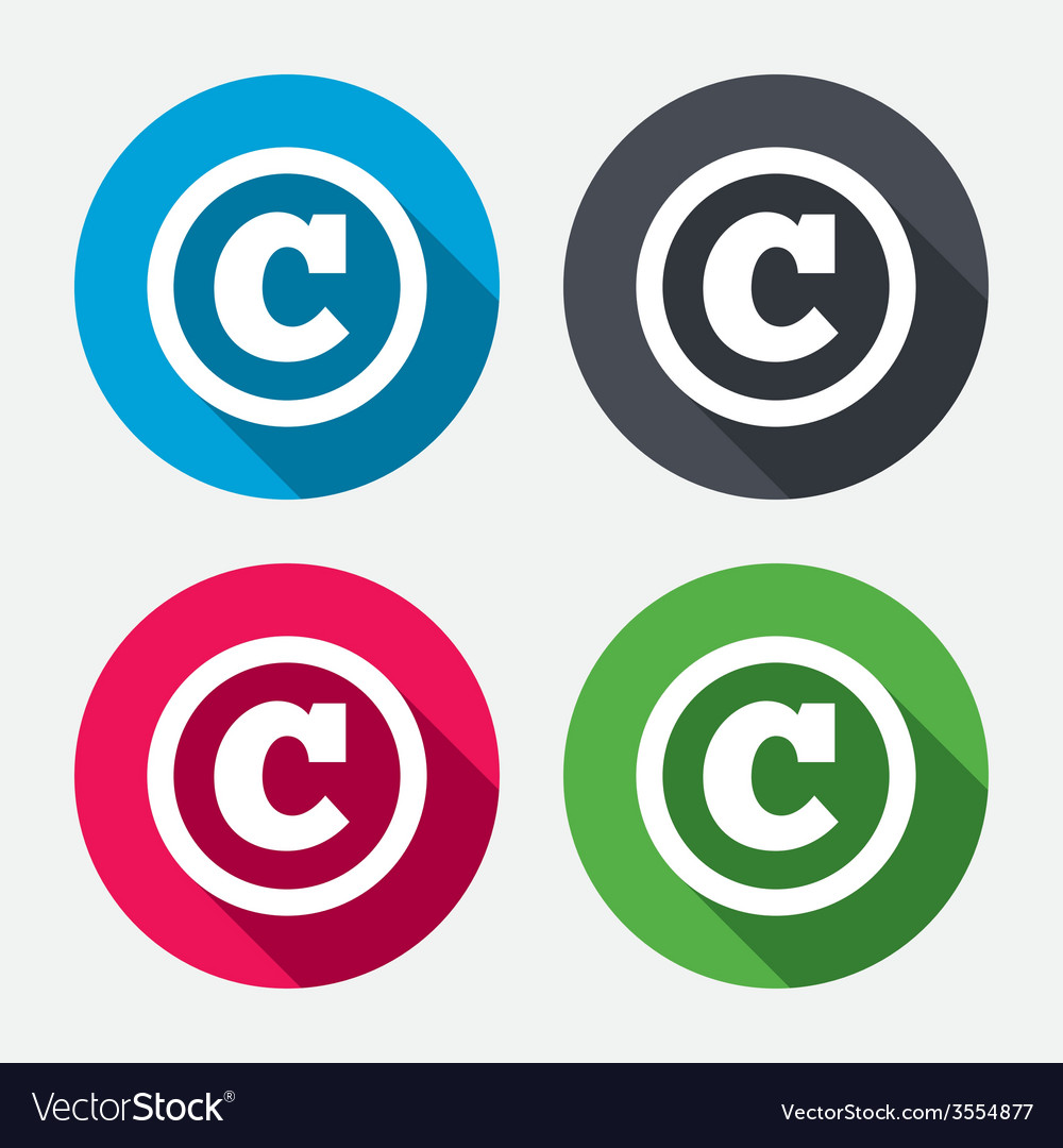 Copyright sign icon copyright button vector | Price: 1 Credit (USD $1)