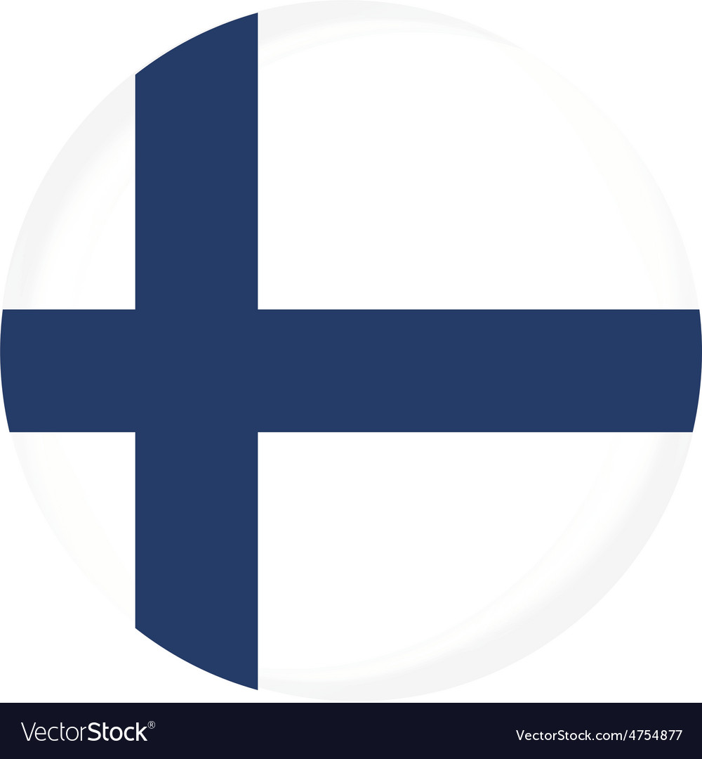 Finland flag vector | Price: 1 Credit (USD $1)