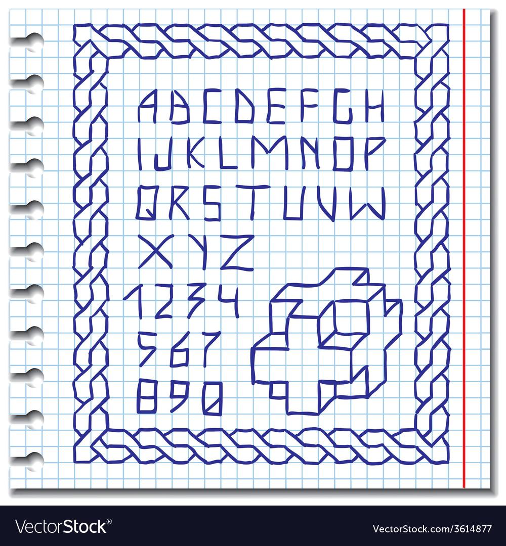 Hand drawing alphabet vector   Price: 1 Credit (USD $1)