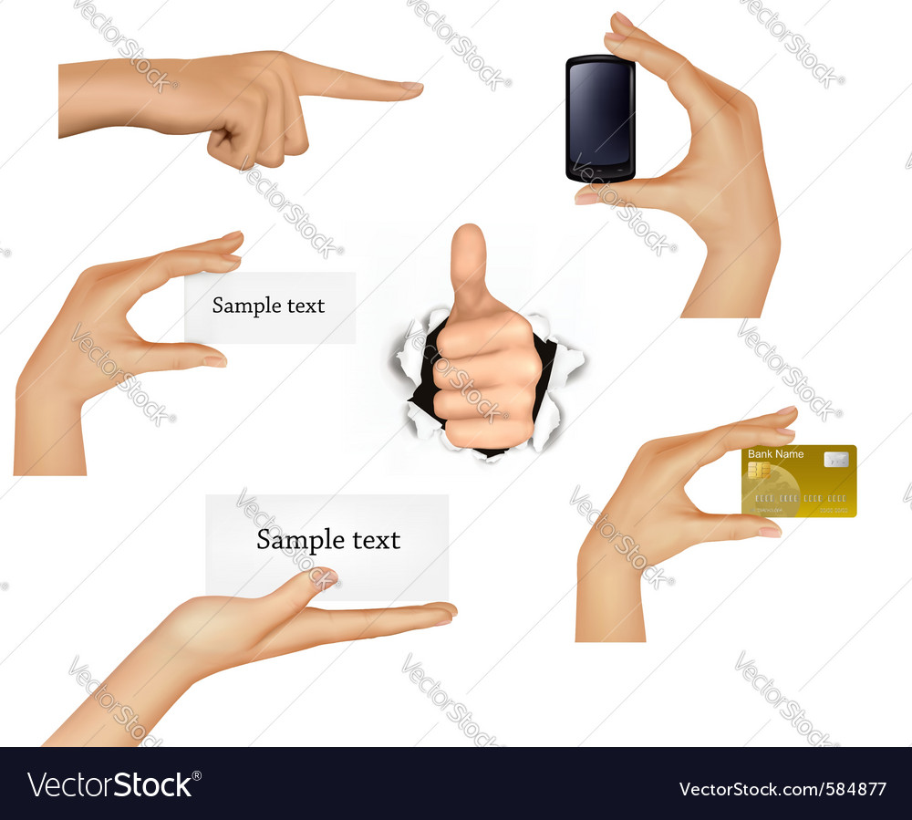 Hands holding objects vector | Price: 3 Credit (USD $3)
