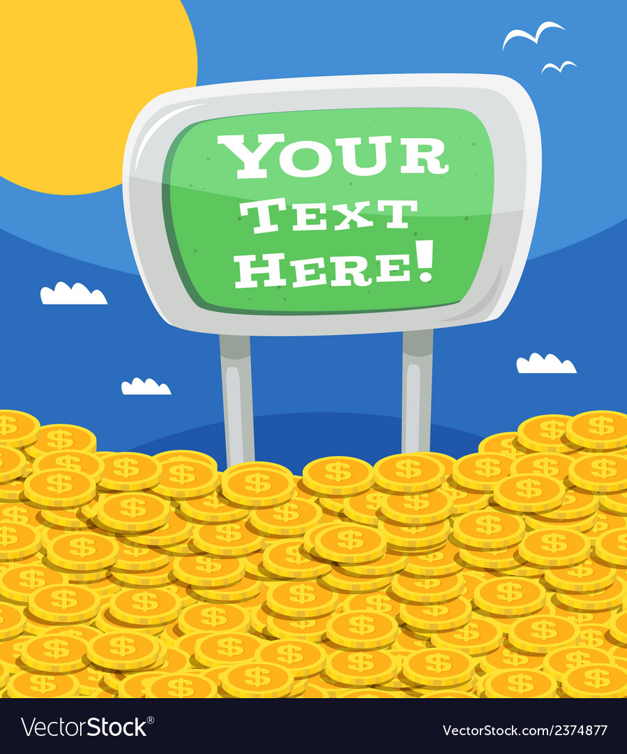 Money heap with sign vector | Price: 1 Credit (USD $1)