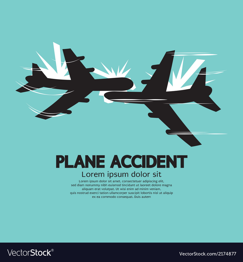 Plane accident vector | Price: 1 Credit (USD $1)