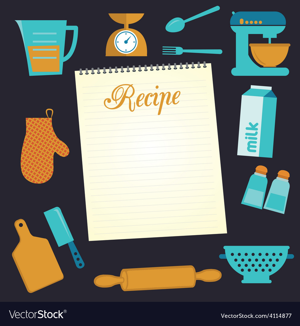 Recipe document template vector | Price: 1 Credit (USD $1)