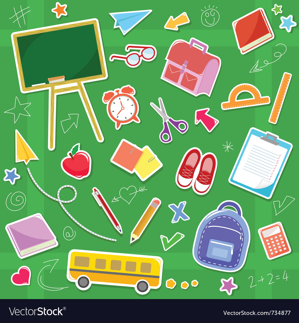 School icons vector | Price: 3 Credit (USD $3)