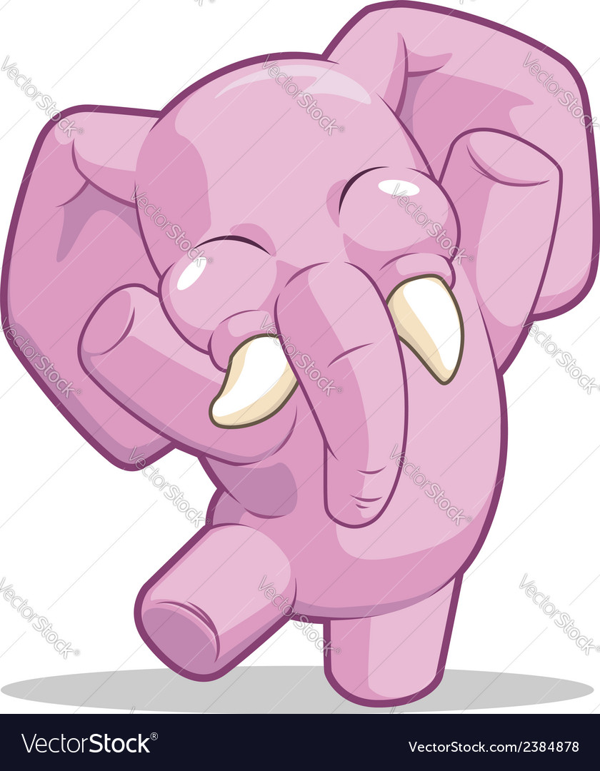 Elephant dancing vector | Price: 1 Credit (USD $1)