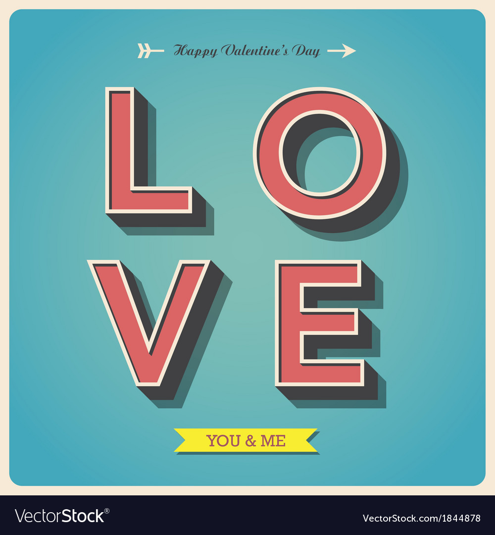 Happy valentines day poster vector | Price: 1 Credit (USD $1)