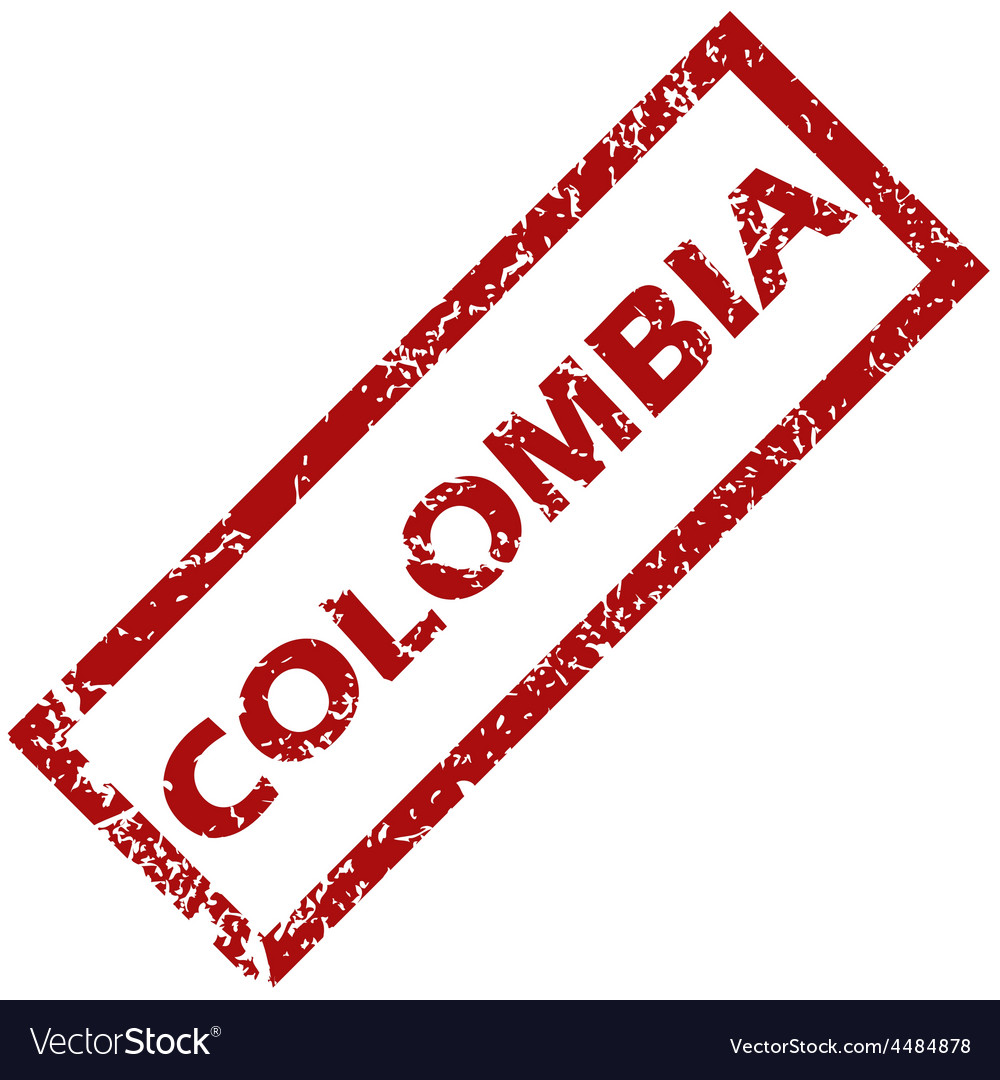 New colombia rubber stamp vector | Price: 1 Credit (USD $1)