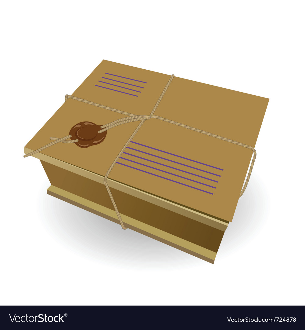 Package the wooden box vector | Price: 1 Credit (USD $1)