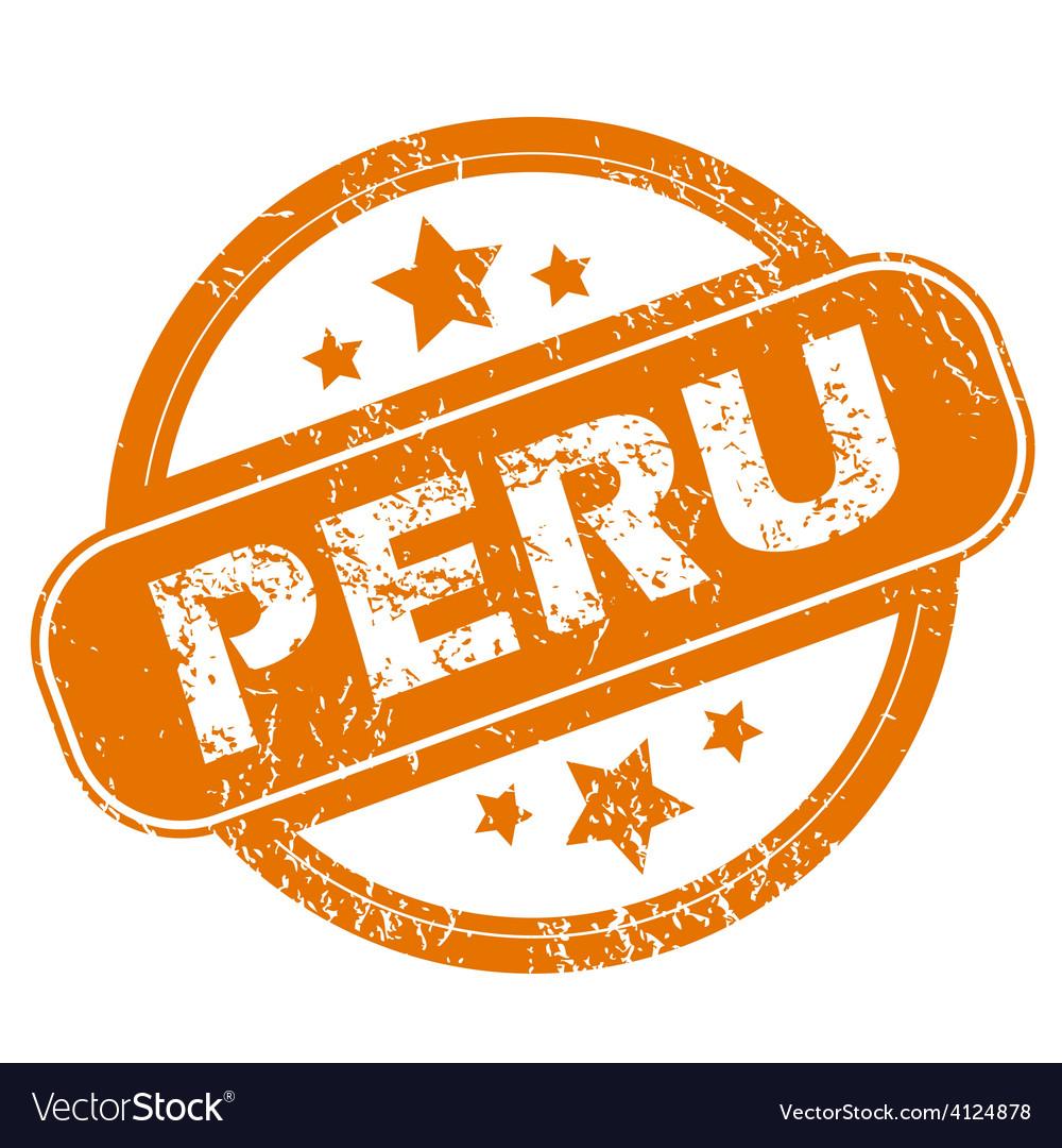 Peru grunge icon vector   Price: 1 Credit (USD $1)