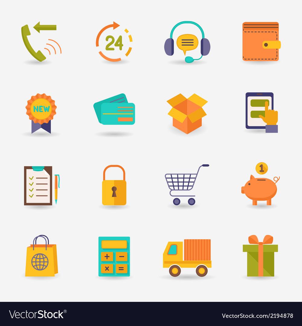 Shopping e-commerce icon vector | Price: 1 Credit (USD $1)