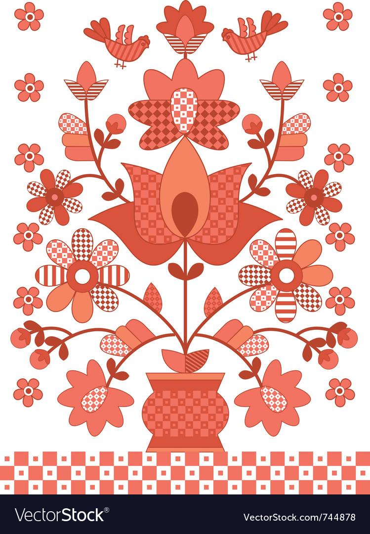 Ukrainian traditional flowers vector   Price: 1 Credit (USD $1)