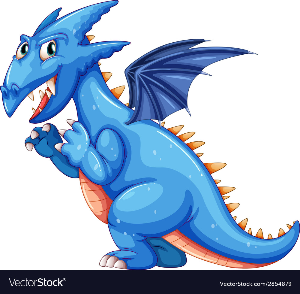 Blue dragon vector | Price: 1 Credit (USD $1)