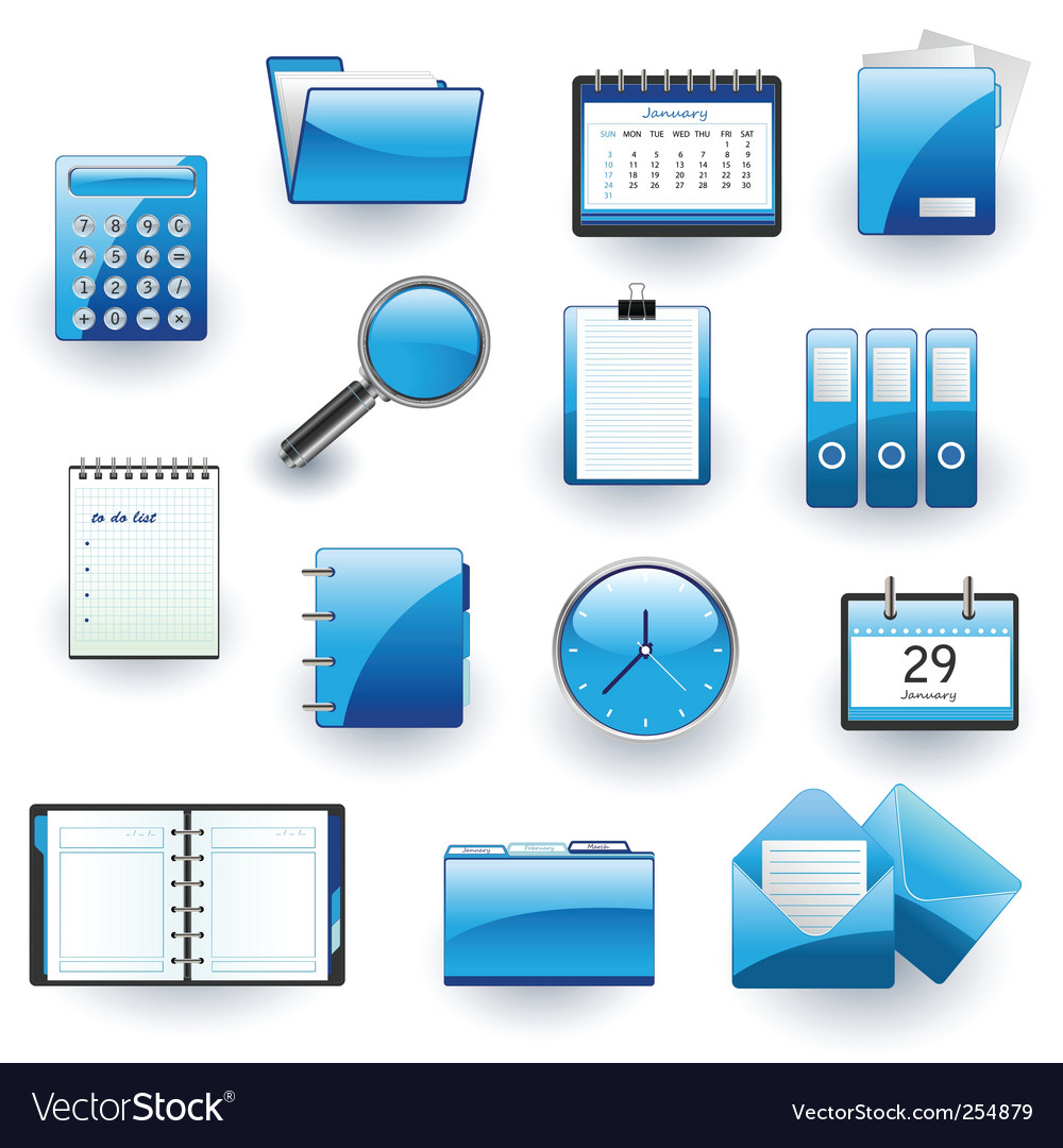 Business and office icon set vector | Price: 3 Credit (USD $3)