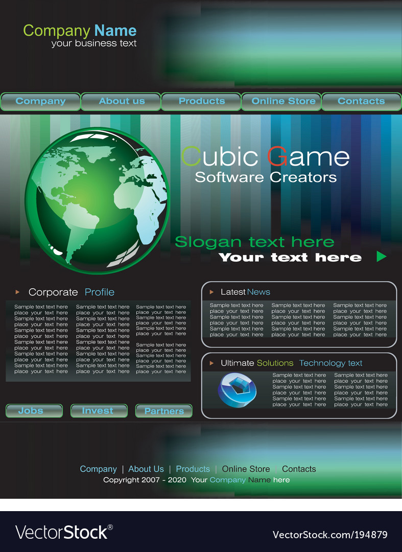 Business web site template vector | Price: 3 Credit (USD $3)