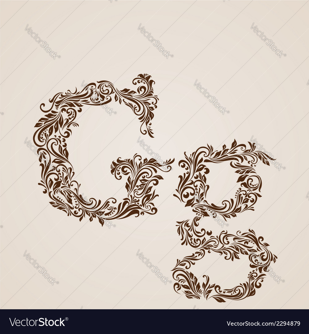 Decorated letter g vector | Price: 1 Credit (USD $1)