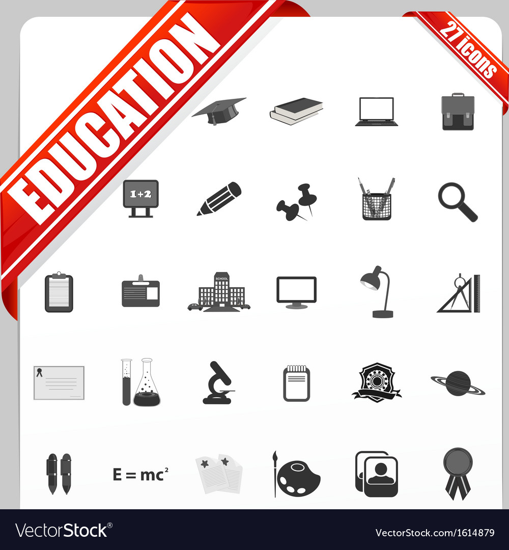 Education icon vector | Price: 1 Credit (USD $1)